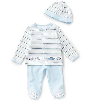 Little Me Baby Boys Newborn-9 Months Car-Embroidered 3-Piece Layette Set
