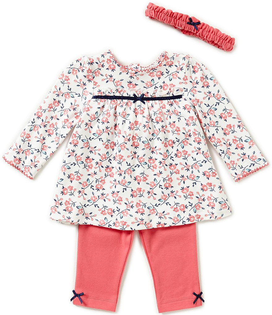 Little Me Baby Girls 3-12 Months Trellis Rose Print Tunic & Leggings Set