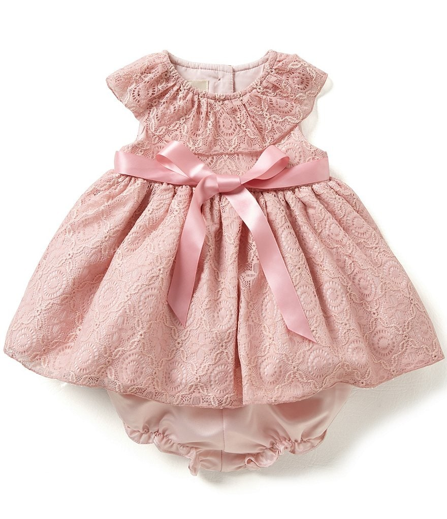 Laura Ashley London Baby Girls Newborn-24 Months Ruffled-Collar Lace Dress