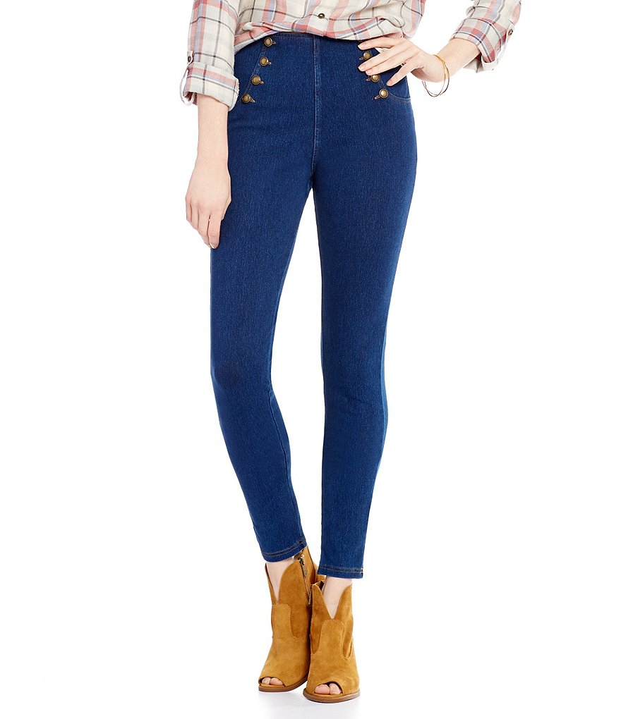 HUE Sailor High-Waisted Denim Leggings