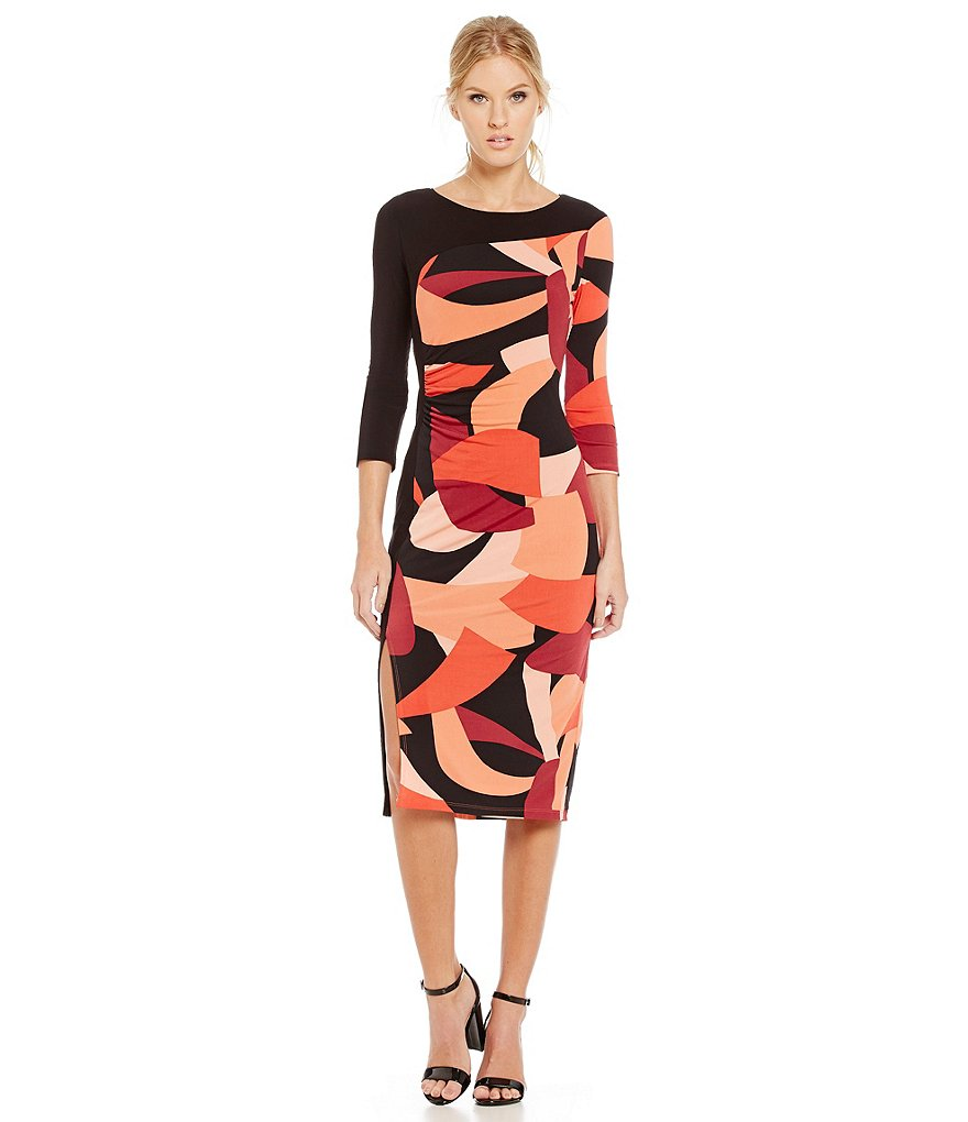 Laundry by Shelli Segal Color Block Sheath Dress