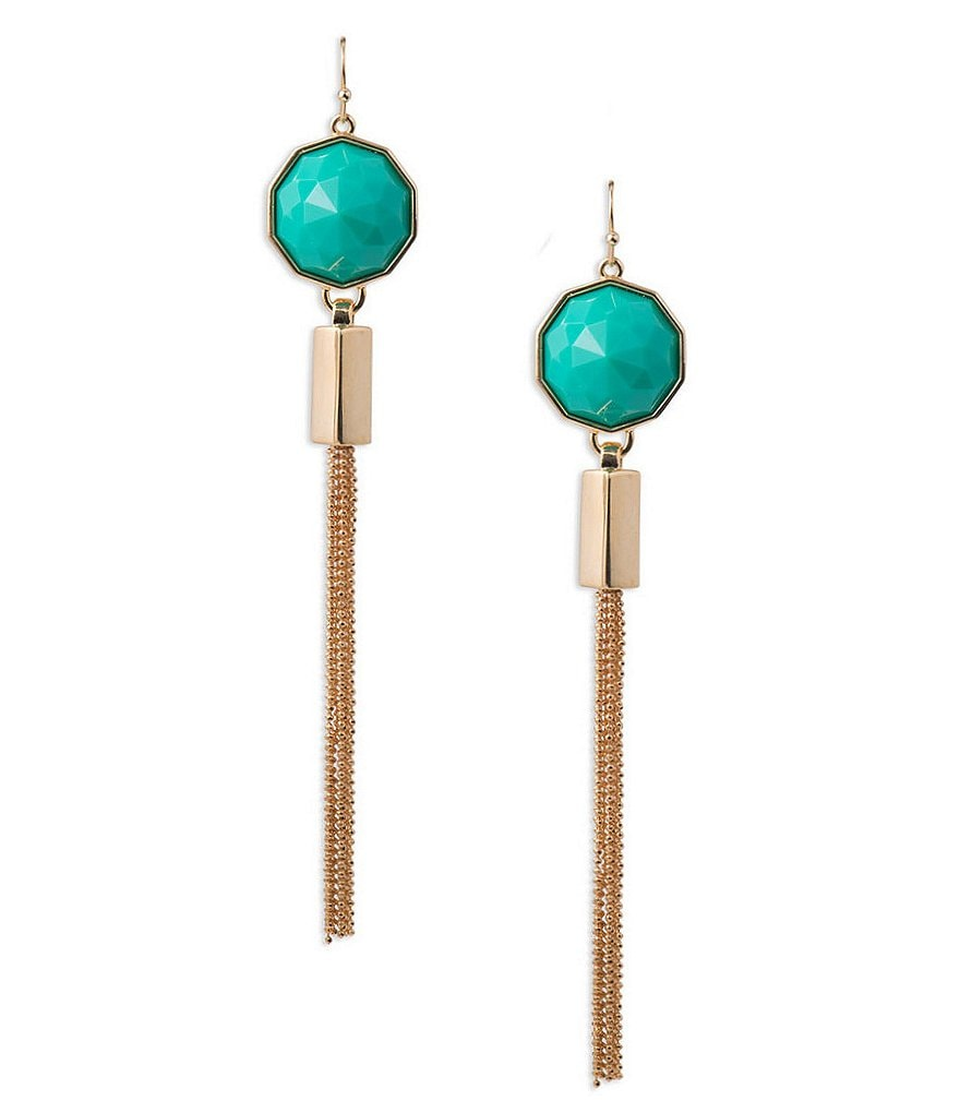 Trina Turk Modernity Stone Tassel Earrings
