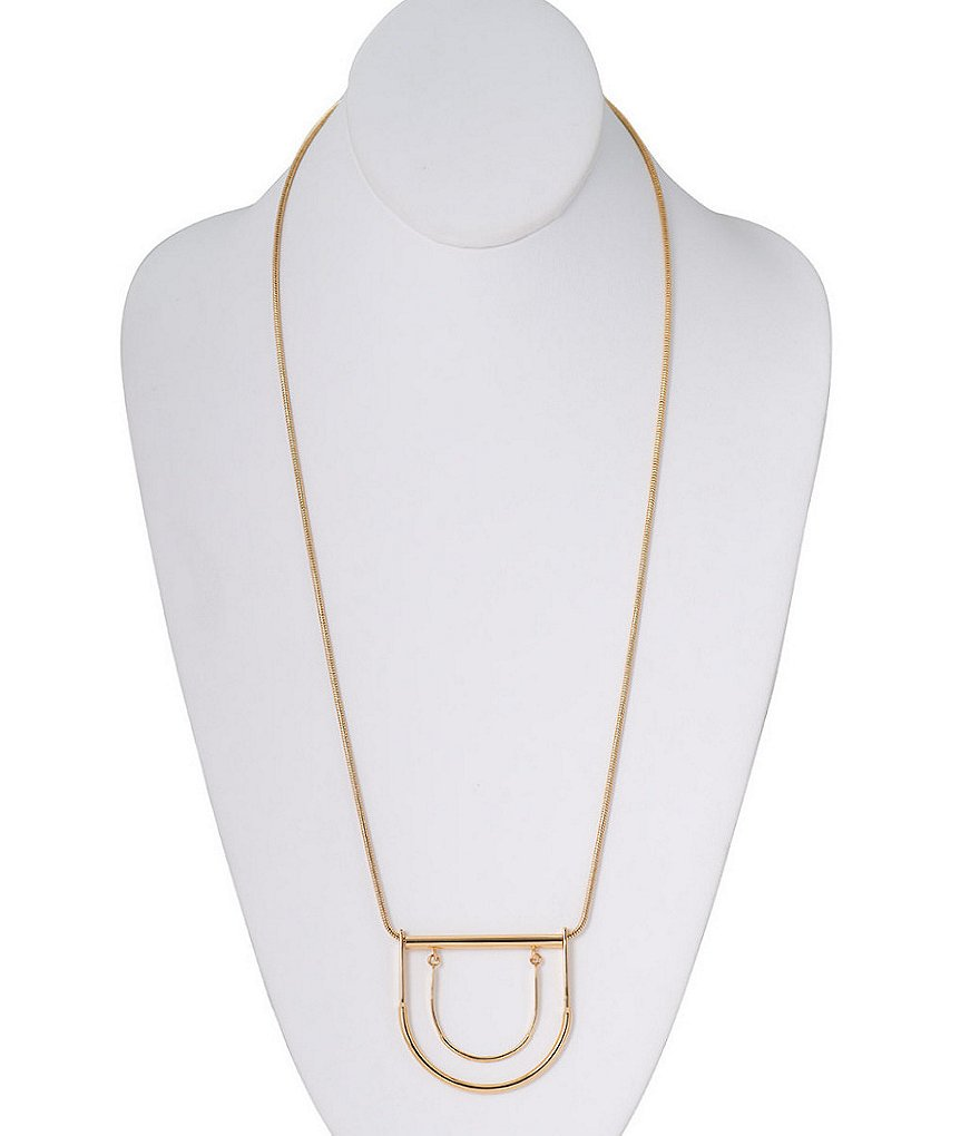 Trina Turk Modernity Geometric Pendant Necklace