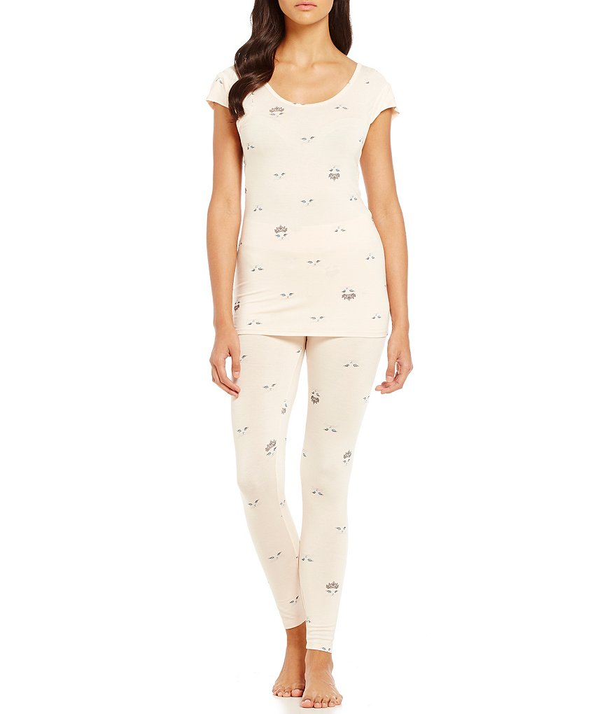 Betsey Johnson Kitty Face Pajamas