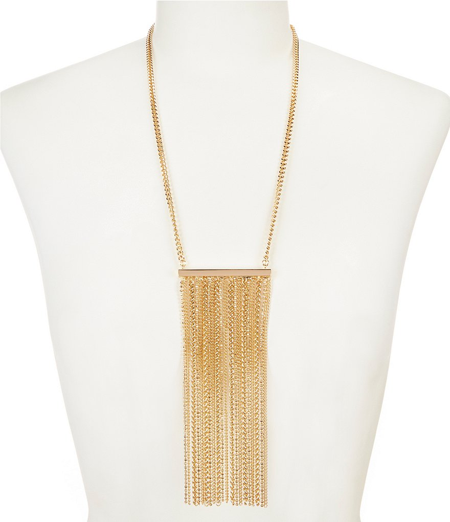 Landry Long Fringe Tassel Necklace