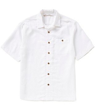 Caribbean Big & Tall Jacquard Camp Shirt