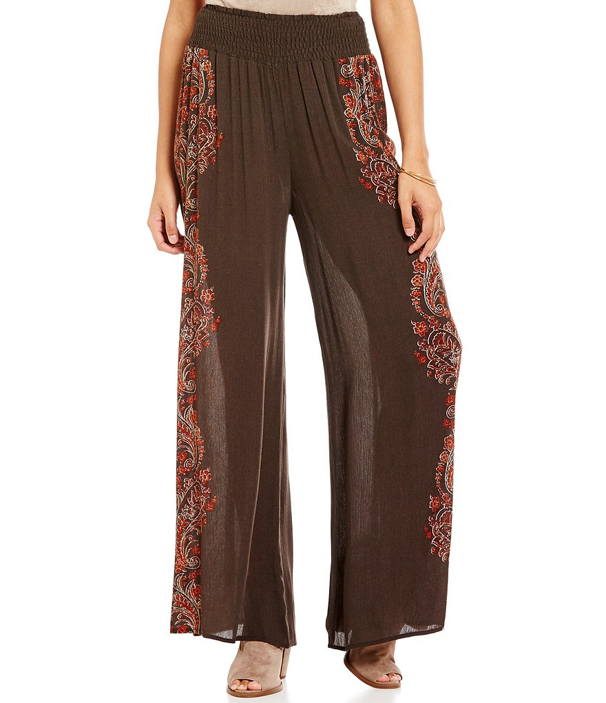 Coco + Jaimeson Placement Print Palazzo Pants