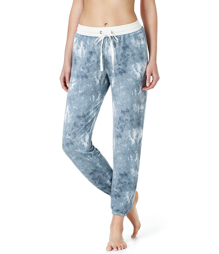 Kensie Tie-Dye French Terry Lounge Jogger Pants