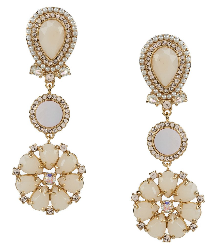 kate spade new york At First Blush Mother of Pearl Drop Earrings
