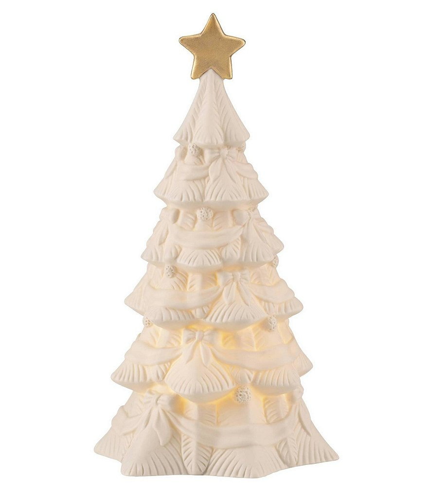 Lenox All Is Bright Lighted Tree Figurine