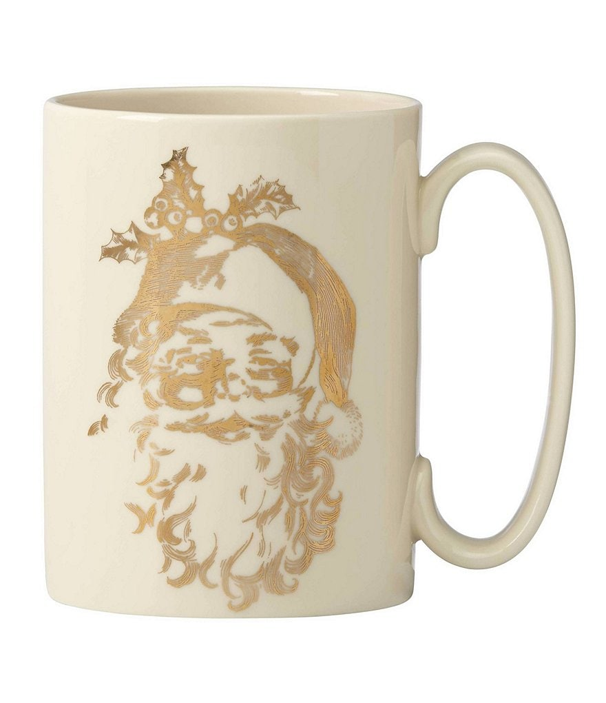 Lenox Golden Holidays Naughty or Nice Santa Mug