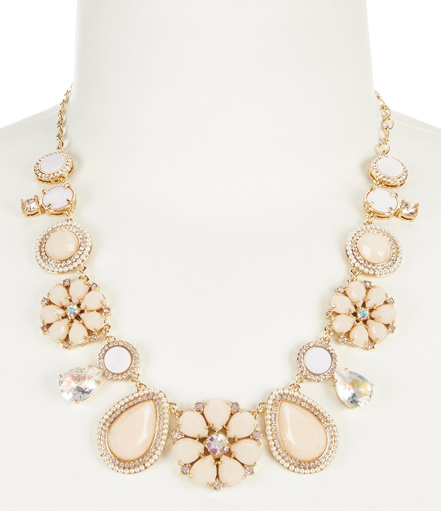 kate spade new york At First Blush Mother of Pearl Statement Necklace