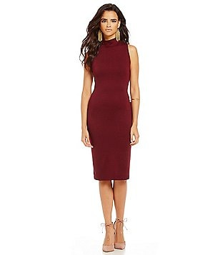RD Style Sleeveless Mock Neck Bodycon Dress
