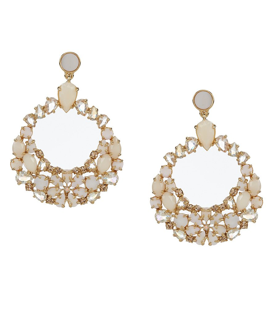 kate spade new york Mother-of-Pearl Orbital Statement Earrings