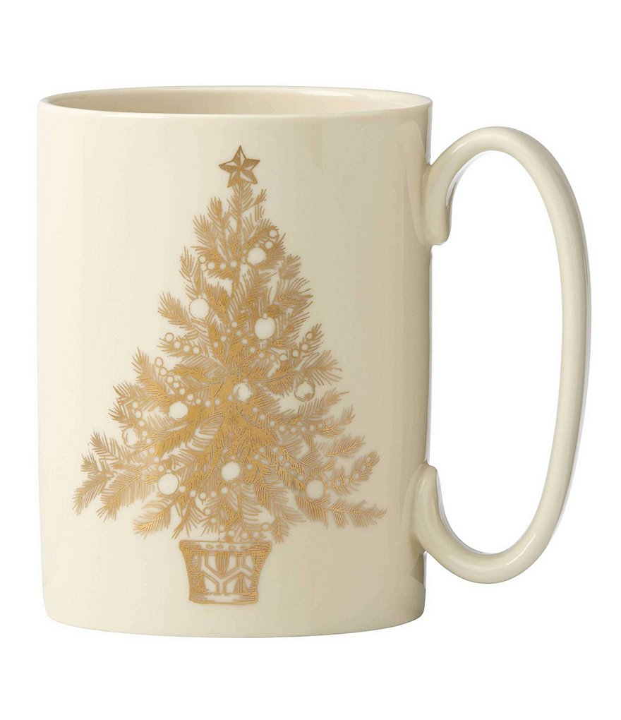 Lenox Golden Holidays Let It Snow Tree Mug