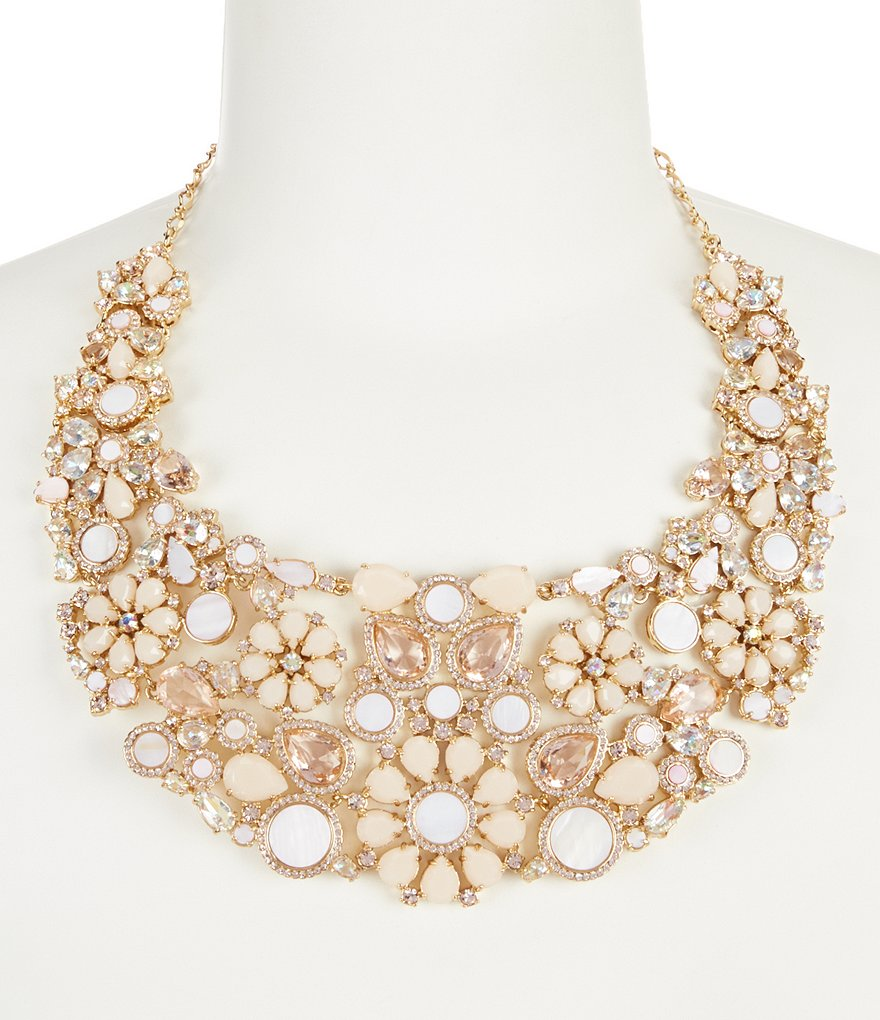 kate spade new york At First Blush Mother of Pearl Gold Plated Statement Necklace