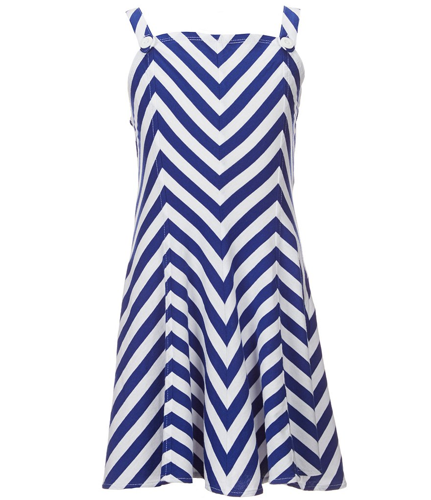 Ralph Lauren Childrenswear Little Girls 2T-6X Chevron-Striped Dress