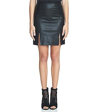 1. STATE A-Line Faux Leather Mini Skirt