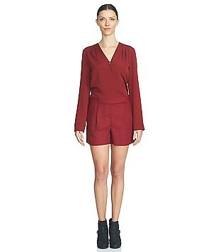 1. STATE Long Sleeve V-Neck Romper