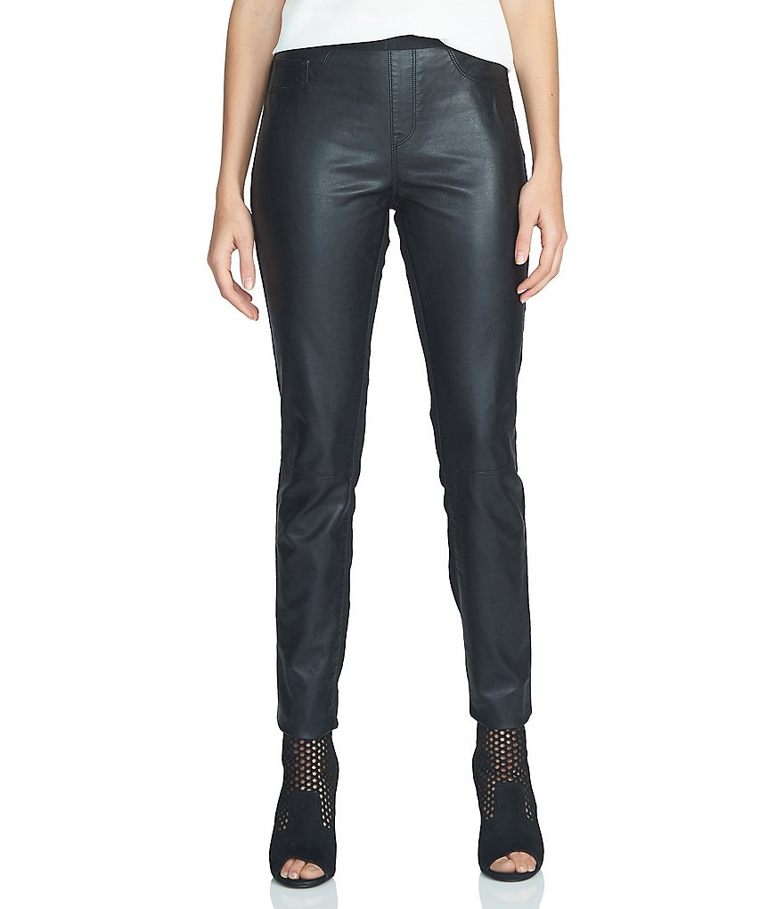 1. STATE Faux Leather Front Leggings