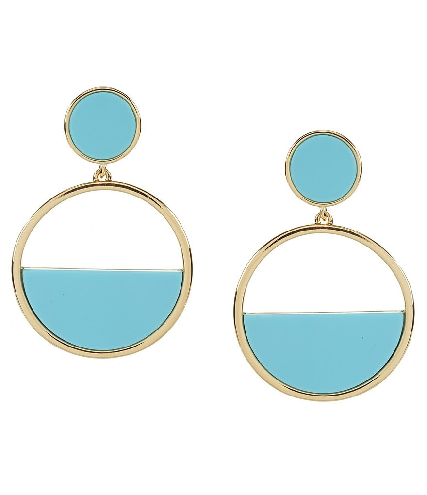 kate spade new york Gold Plated Drop Hoop Earrings