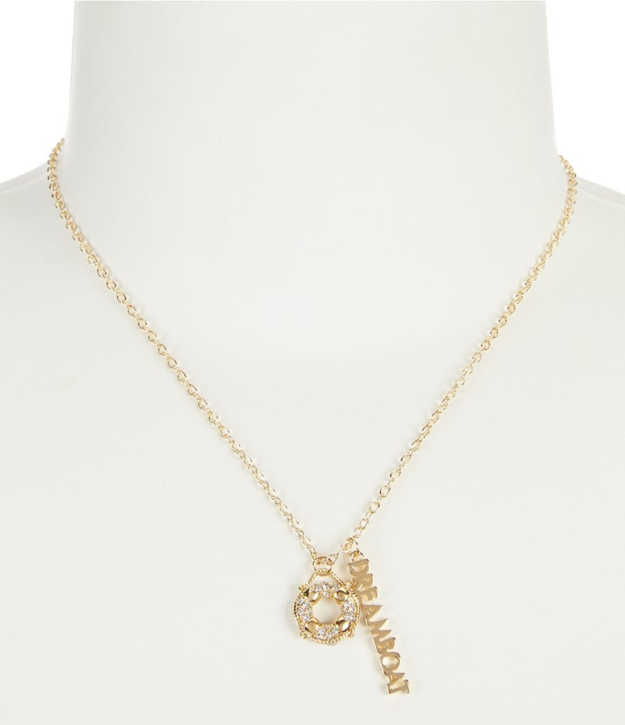 Kate Spade New York Kiss A Prince Dreamboat Gold Plated Pendant Necklace
