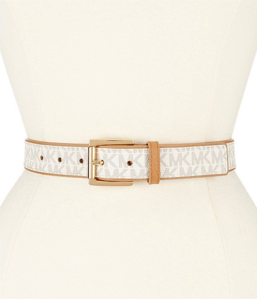 Michael Kors Paneled Logo Belt