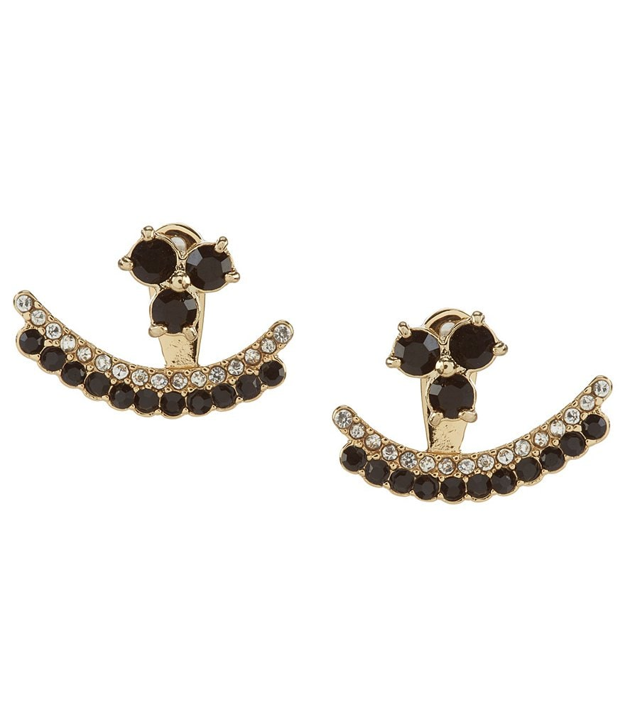 kate spade new york Dainty Sparklers Double-Row Ear Jacket Earrings