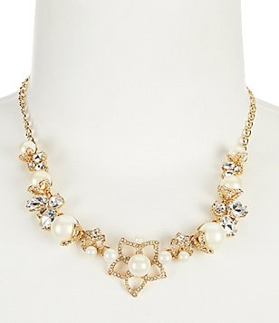 kate spade new york Pearl Bouquet Collar Necklace