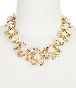 kate spade new york Pearl Bouquet Statement Necklace