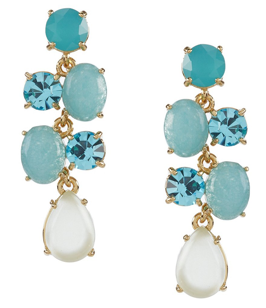 kate spade new york Stack Attack Turquoise Chandelier Drop Earrings