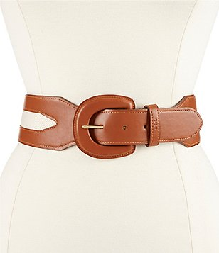 Lauren Ralph Lauren Two-Tone Stretch Belt