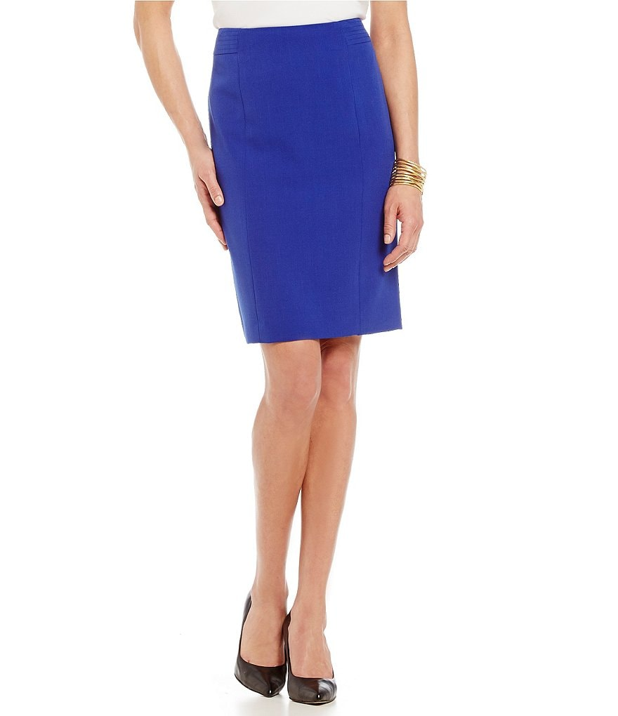 Kasper Petite Stretch Crepe Pencil Skirt