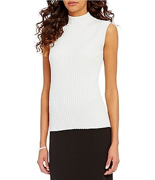 Preston & York Portia Mockneck Sleeveless Sweater