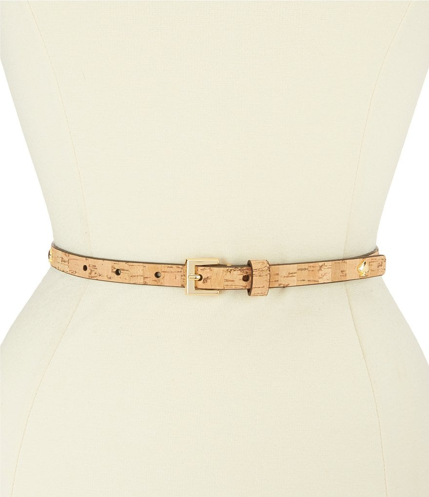 kate spade new york Cork Belt with Spade Rivets