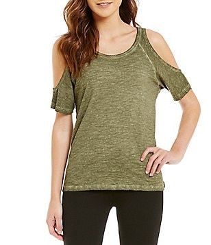 Sanctuary Solid Cold-Shoulder Top