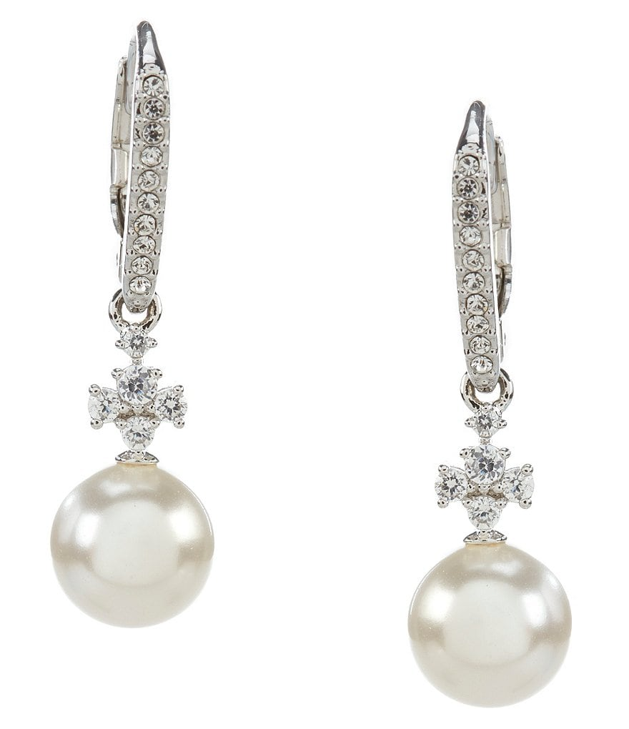 Nadri Fiona Cubic Zirconia & Pearl Drop Earrings
