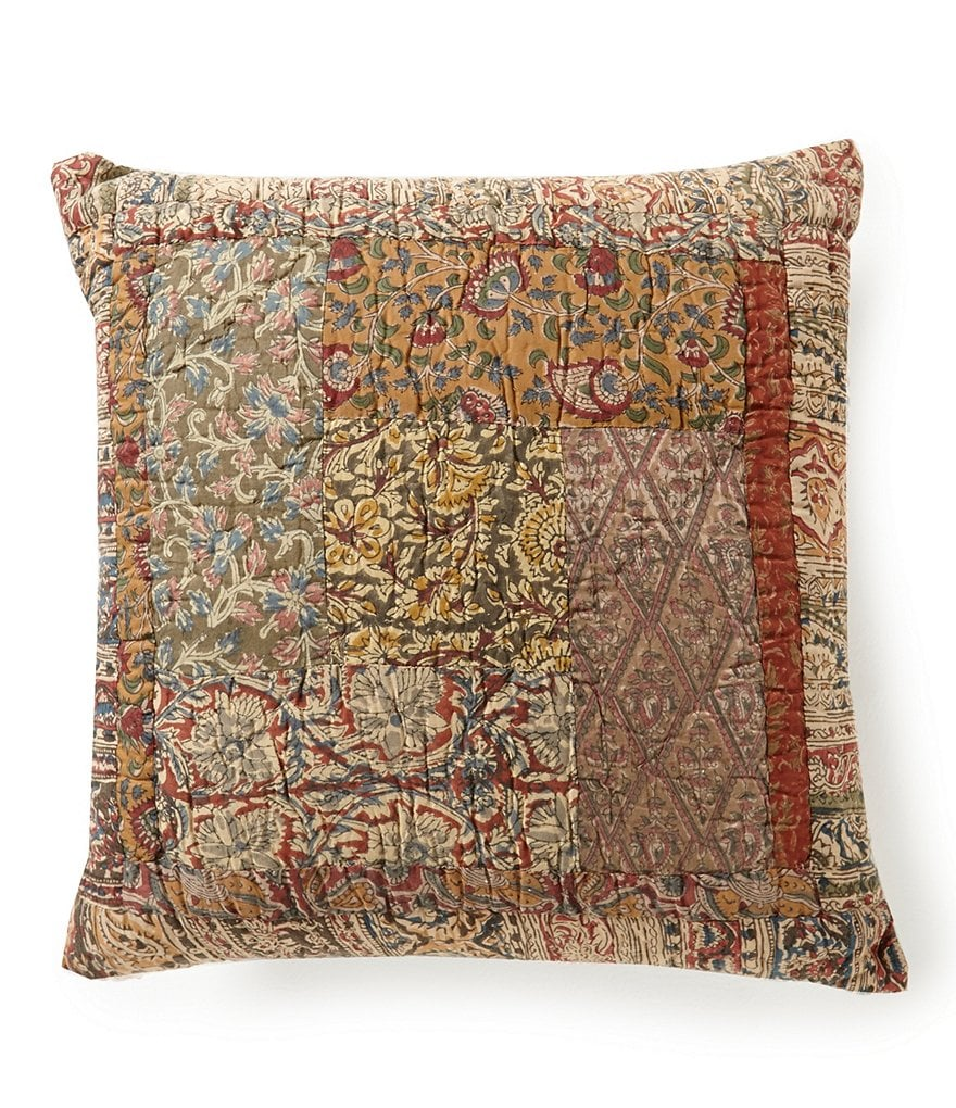 Villa by Noble Excellence Trevino Patchwork Voile Square Pillow