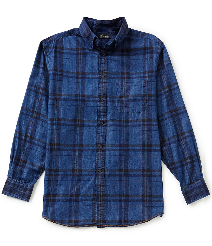 Roundtree & Yorke Casuals Long Sleeve Printed Buttondown Woven