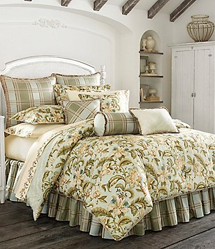 Piper & Wright Adeline Floral Jacobean Jacquard & Plaid Comforter Set