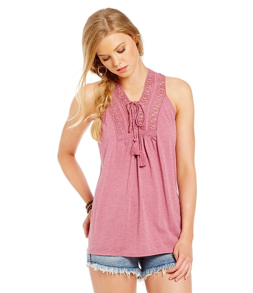 Chelsea & Violet Tie Front Sleeveless Tank