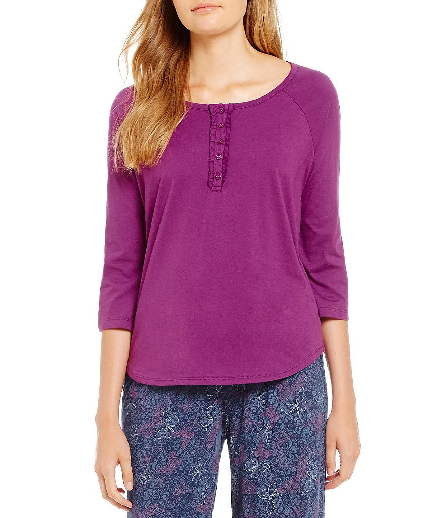 Karen Neuburger Henley Sleep Top