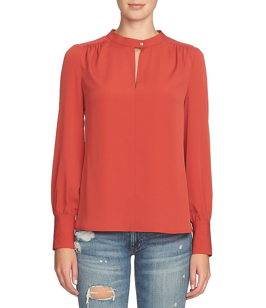 1. STATE Blouson Front Keyhole Blouse
