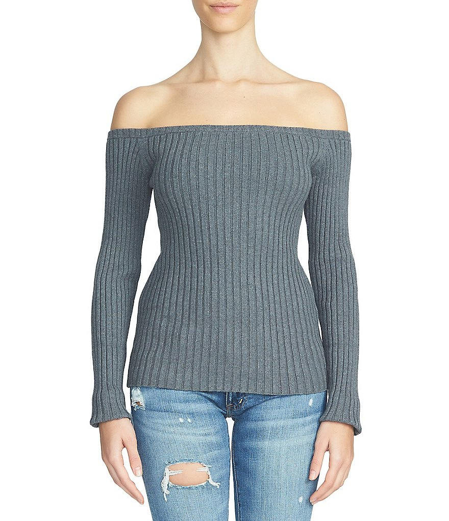 1. STATE Off-the-Shoulder Chunky Sweater