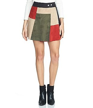 1. STATE A-Line Faux-Suede Mini Skirt