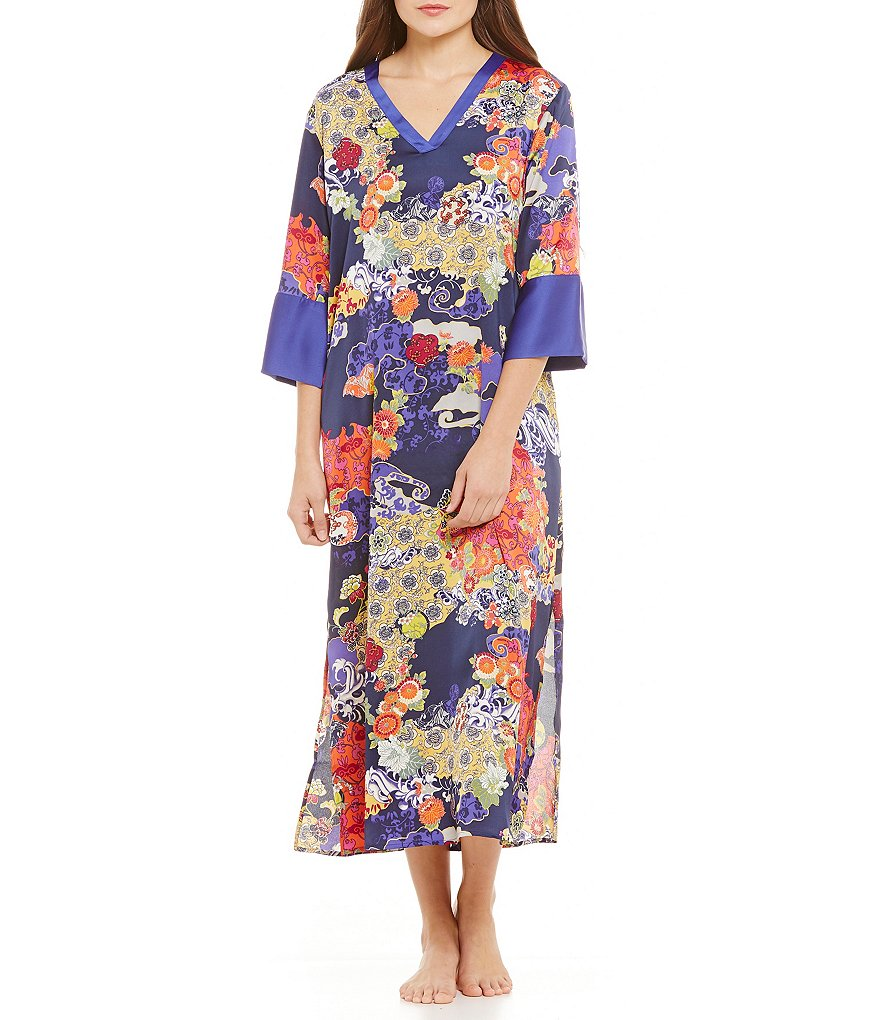 N by Natori Enchanted River Satin Caftan