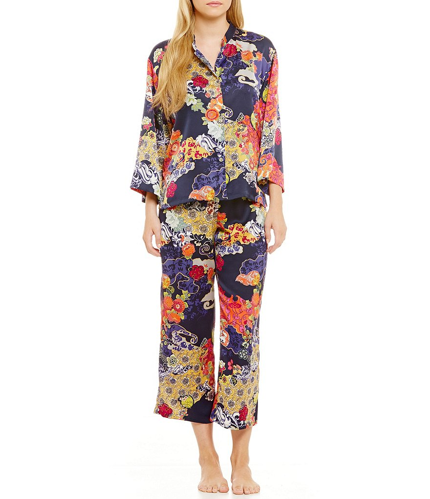 N by Natori Enchanted River Satin Pajamas