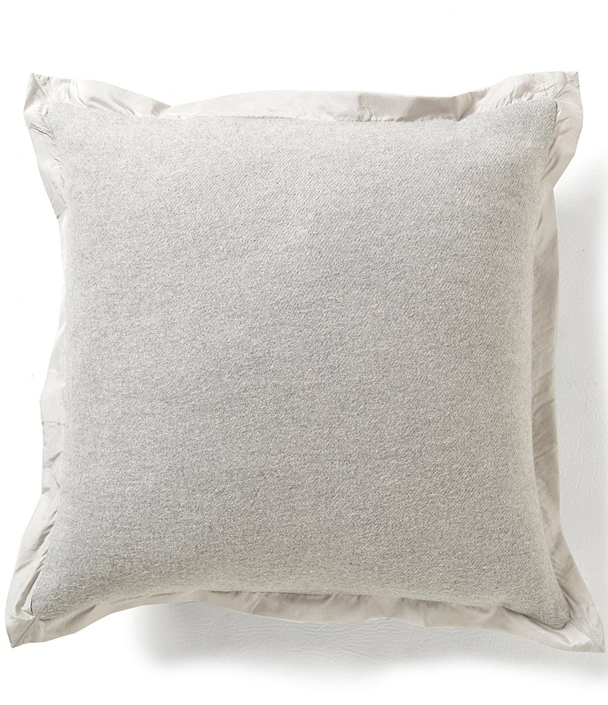 Noble Excellence Mélange Felt & Satin Pillow