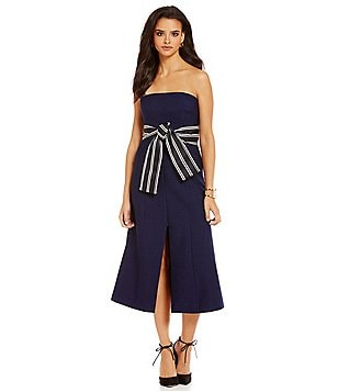 C/MEO Right Hand Strapless A-Line Bow Dress