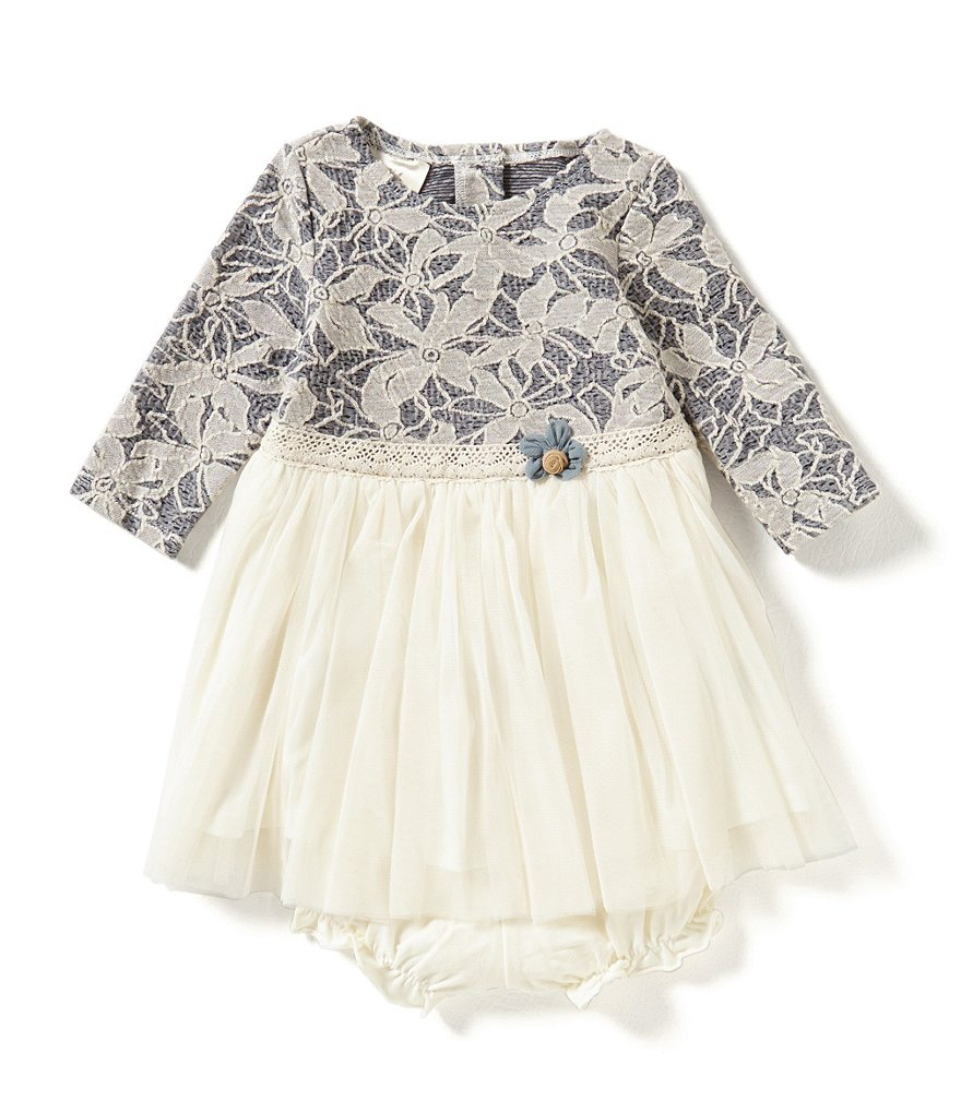 Laura Ashley London Baby Girls 12-24 Months Lace To Mesh Dress